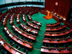 The Legislative Council in Hong Kong (Vincent Yu/AP)