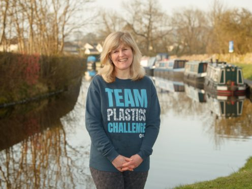 Joanna Moseley is the first woman to paddleboard along the 162-mile Canal and River Trust Coast-to-Coast Trail (Danny Lawson/PA)