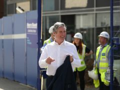 Labour Party leader Sir Keir Starmer during a visit to Sheffield, South Yorkshire (Danny Lawson/PA)