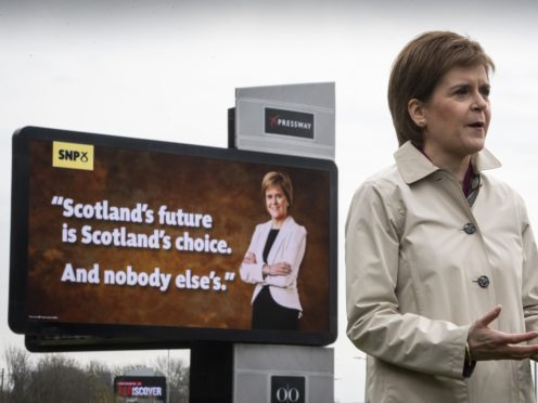 Nicola Sturgeon has launched the SNP election campaign (Andy Buchanan/PA)