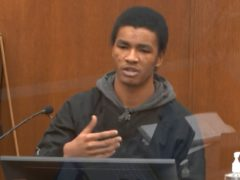 In this image from video, witness Christopher Martin answers questions as Hennepin County Judge Peter Cahill presides Wednesday, March 31, 2021, in the trial of former Minneapolis police Officer Derek Chauvin at the Hennepin County Courthouse in Minneapolis, Minn. Chauvin is charged in the May 25, 2020 death of George Floyd. (Court TV via AP, Pool)