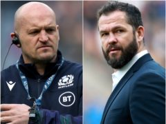 Gregor Townsend, left, and Andy Farrell, right, meet at Murrayfield this weekend (PA)