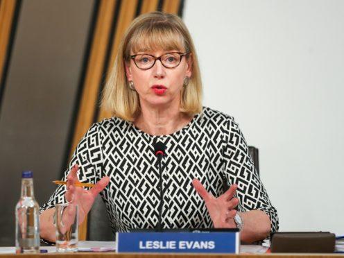 Permanent Secretary Leslie Evans must consider her position, Anas Sarwar has said (Russell Cheyne/PA)