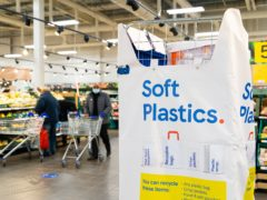 A soft plastics collection point in a Tesco store (Tesco/PA)