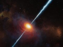 Astronomers have discovered the most distant source of radio emission known to date (ESO/M Kornmesser)