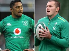 Bundee Aki, left, and Jacob Stockdale, right, will make their first Ireland appearances of 2021 (Lorraine O'Sullivan/Brian Lawless/PA)