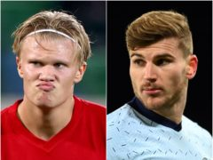 Chelsea could use Timo Werner (right) in their bid for Erling Braut Haaland (left) (Liam McBurney/Clive Mason/PA)