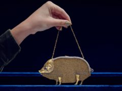 The unusual gem-set gold mesh purse by Lacloche Freres (Sotheby's/PA)