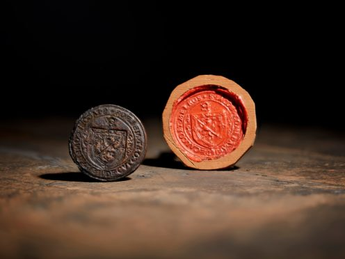 The rare 16th century seal was last displayed in 1901 (Lyon and Turnbull/PA)
