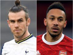 Gareth Bale and Pierre-Emerick Aubameyang (Daniel Leal Olivas/Adam Davy/PA)