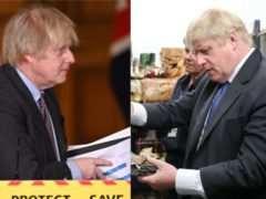Boris Johnson, pictured in 2021 and 2018, says he is 'full of beans' after losing some weight (Leon Neal/PA and Andrew Matthews/PA)