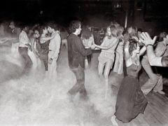 People on the dance floor at Xenon, New York in 1979 (Bill Bernstein / David Hill Gallery/ London/PA)