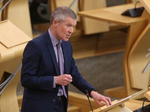 Scottish Liberal Democrat leader Willie Rennie said his party could prevent the SNP from winning a Holyrood majority in May. (Fraser Bremner/Scottish Daily Mail/PA)