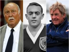 Jimmy Greaves, Ian St John and Kenny Dalglish (Sean Dempsey/PA Wire/Peter Byrne/PA)