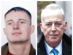 Stuart Lubbock and Michael Barrymore (Essex Police/PA)