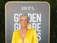 Jamie Lee Curtis was among the stars posing for pictures at the Golden Globes (HFPA/PA)