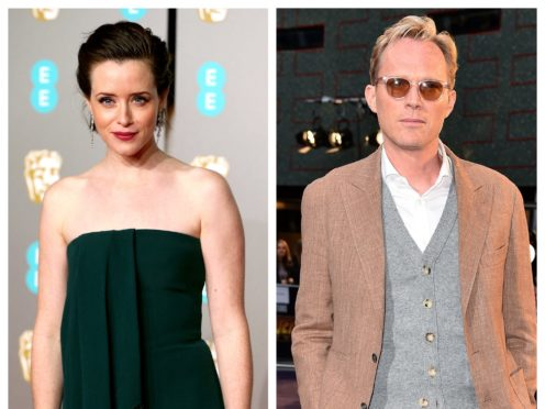 Claire Foy and Paul Bettany (PA)