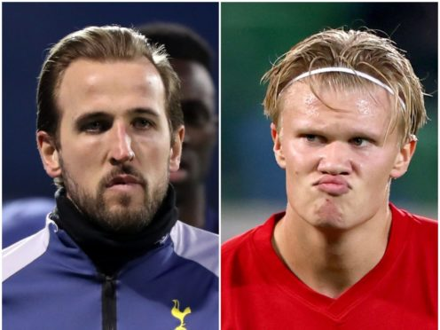 Harry Kane and Erling Haaland (Adrian Dennis/Liam McBurney/PA)
