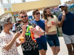 Tan France's Queer Eye co-stars shared their delight at the fashion designer's baby news (Ryan Collerd/Netflix)