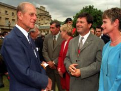 The Duke of Edinburgh with Alan Titchmarsh (Fiona Hanson/PA)