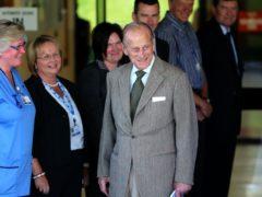 The Duke of Edinburgh leaving Aberdeen Royal Infirmary in 2012 (Andrew Milligan/PA)