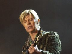 David Bowie on stage (Yui Mok/PA)