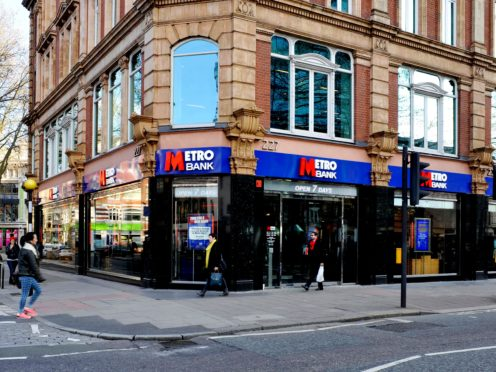 More lenders, including Metro Bank, are launching 5% deposit mortgages onto the market (Nick Ansell/PA)