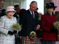 The Queen, Prince of Wales and Princess Royal at the Braemar Royal Highland Gathering (Andrew Milligan/PA)