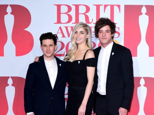 London Grammar's Hannah Reid, Dan Rothman and Dominic 'Dot' Major (Ian West/PA)