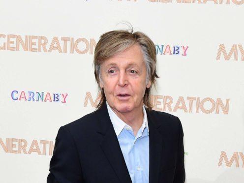 Sir Paul McCartney (Ian West/PA)