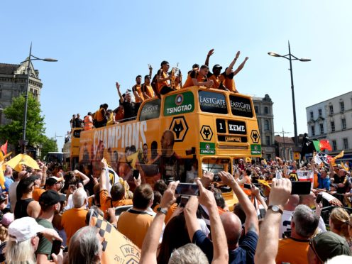 Wolves, seen here after winning the 2017/18 Championship, are now claiming a Premier League title too (Joe Giddens/PA)