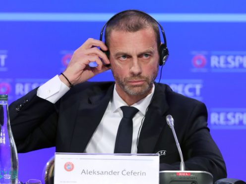 """Aleksander Ceferin has called the European Super League a """"spit in the face"""" of football lovers and warned legal action is being worked on (PA)"""