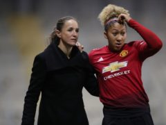 Casey Stoney (left) has given her view on this weekend's social media boycott after Lauren James (right) suffered more racist abuse online (Nick Potts/PA).