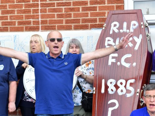 Bury fans protested when their club was kicked out of League One (Dave Howarth/PA)