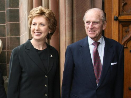 Former Irish president Mary McAleese said the Duke of Edinburgh travelled to Ireland with the Queen in 2011 'on a mission to heal history' (Paul Faith/PA)