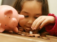 Around eight in 10 parents are hoping to develop better money habits following the coronavirus pandemic, according to the Royal Mint (Anthony Devlin/PA)