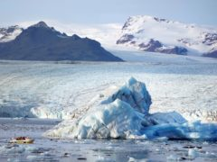 Scientists have warned that more than a third of the ice shelves surrounding Antarctica could be at risk of collapsing if global temperatures reach 4C above pre-industrial levels (Owen Humphreys/PA)