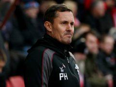 Paul Hurst's Grimsby were relegated (Jonathan Brady/PA)
