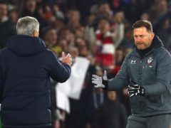 Ralph Hasenhuttl will not be opposite Jose Mourinho in the dugout on Wednesday (Mark Kerton/PA)