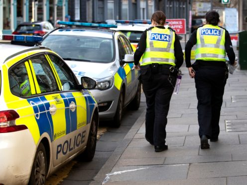 Police carried out door-to-door inquiries following the incident in Glasgow on Wednesday evening (PA)