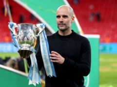 Manchester City are defending their League Cup title against Tottenham in Sunday's final (Mike Egerton/PA)