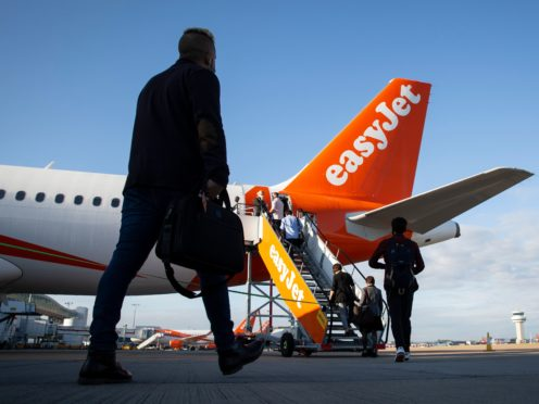 Chief executive Johan Lundgren said PCR tests are 'way over and above what the cost is of an average easyJet fare' (Matt Alexander/PA)