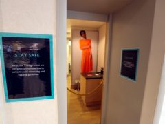 Fitting rooms were closed at John Lewis in Kingston after non-essential shops in England opened their doors to customers for the first time after the first lockdown (Steve Parsons/PA)
