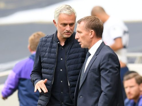 Leicester manager Brendan Rodgers is among the favourites to replace Jose Mourinho. (Michael Regan/NMC Pool/PA)