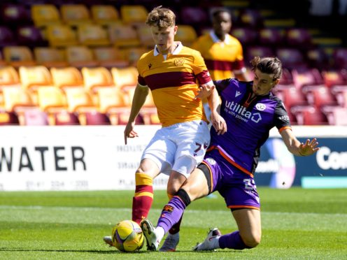 Motherwell's Mark O'Hara, left, is looking for a cup run (Steve Welsh/PA)