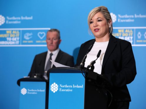 Finance Minister Conor Murphy and deputy First Minister Michelle O'Neill (PA)
