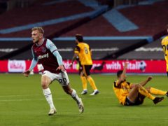 West Ham beat Wolves by a 4-0 score on September 27 (Frank Augstein/PA)
