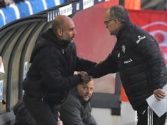 Pep Guardiola (left) and Marcelo Bielsa meet again this weekend (Paul Ellis/PA)