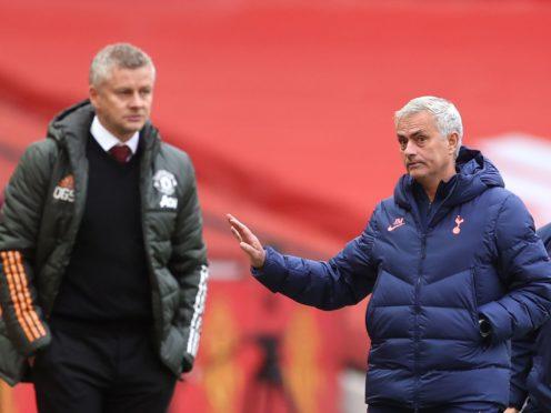 Manchester United manager Ole Gunnar Solskjaer (left) and Tottenham Hotspur counterpart Jose Mourinho locked horns on Sunday (Carl Recine/PA)