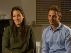 Sarah and Tom Richford, the parents of Harry Richford (BBC News/PA)